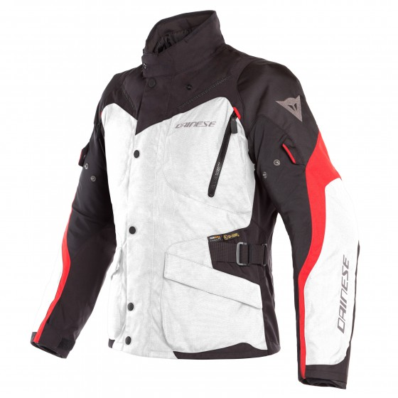 Chaqueta DAINESE Tempest 2 D-Dry light gray/black/tour red