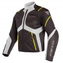 Chaqueta DAINESE Sauris D-Dry black/ quarry/ fluo yellow