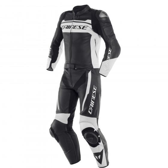 Mono Dainese Mistel 2pcs Leather suit BLACK-MATT/WHITE