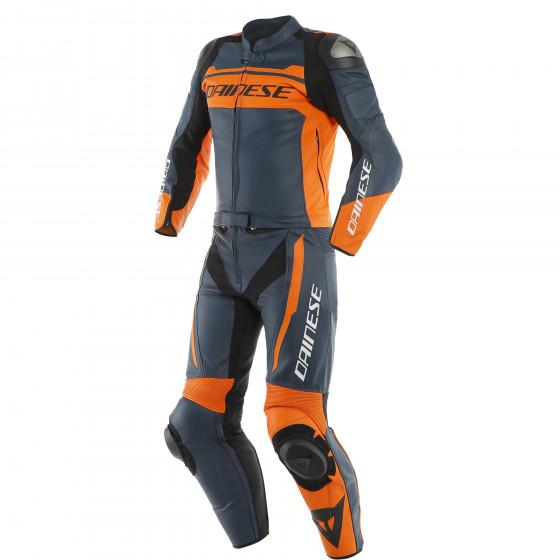 Mono Dainese Mistel 2pcs Leather suit BLACK-IRIS/BLACK-IRIS/ORANGE