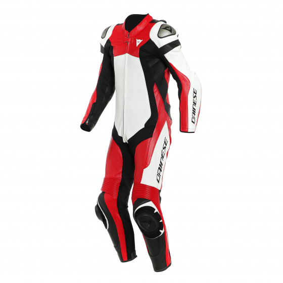 Mono Dainese Assen 2 1pc perf. Leather suit WHITE/LAVA-RED/BLACK