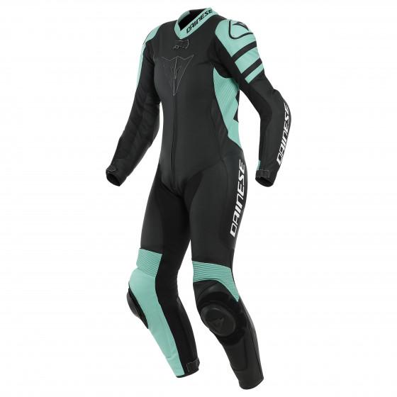 Mono Dainese Killalane 1pc perf LADY leather suit BLACK-MATT/ACQUA-GREEN/BLACK