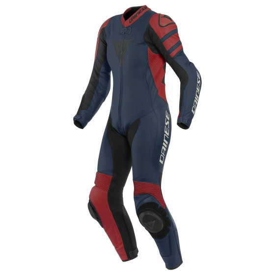 Mono Dainese Killalane 1pc perf LADY leather suit BLACK-IRIS/HAUTE-RED/BLACK
