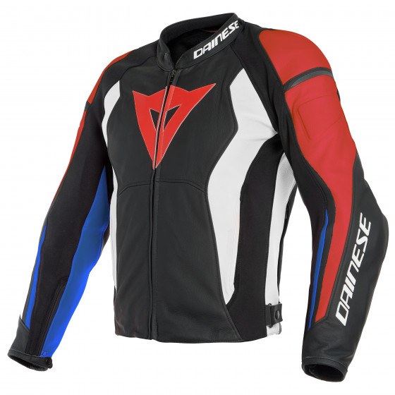 Chaqueta Dainese Nexus leather jacket BLACK/LAVA-RED/WHITE/BLUE