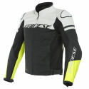 Chaqueta Dainese Agile leaher jacket BLACK-MATT/WHITE/FLUO-YELLOW