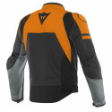 Chaqueta Dainese Agile leaher jacket BLACK-MATT/ORANGE/CHARCOAL-GRAY