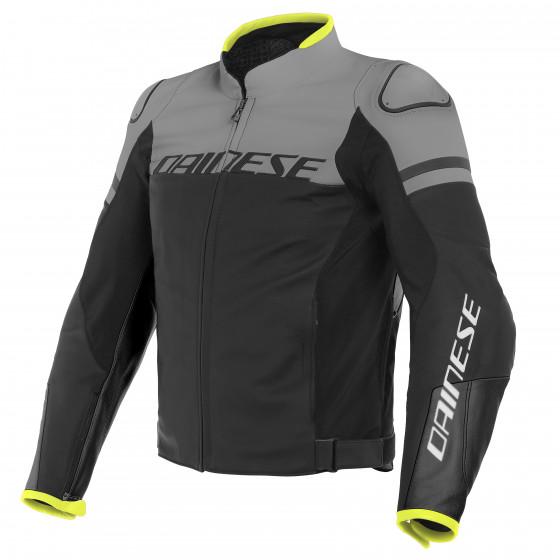 Chaqueta Dainese Agile leaher jacket BLACKBLACK-MATT/CHARCOAL-GRAY/BLACK-MATT