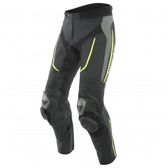 Pantalon Dainese Alpha perf. Leather pant BLACK/MATT-GRAY/FLUO-YELLOW