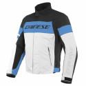 Chaqueta Dainese Saetta D-Dry GLACIER-GRAY/PERFORMANCE-BLUE/BLACK
